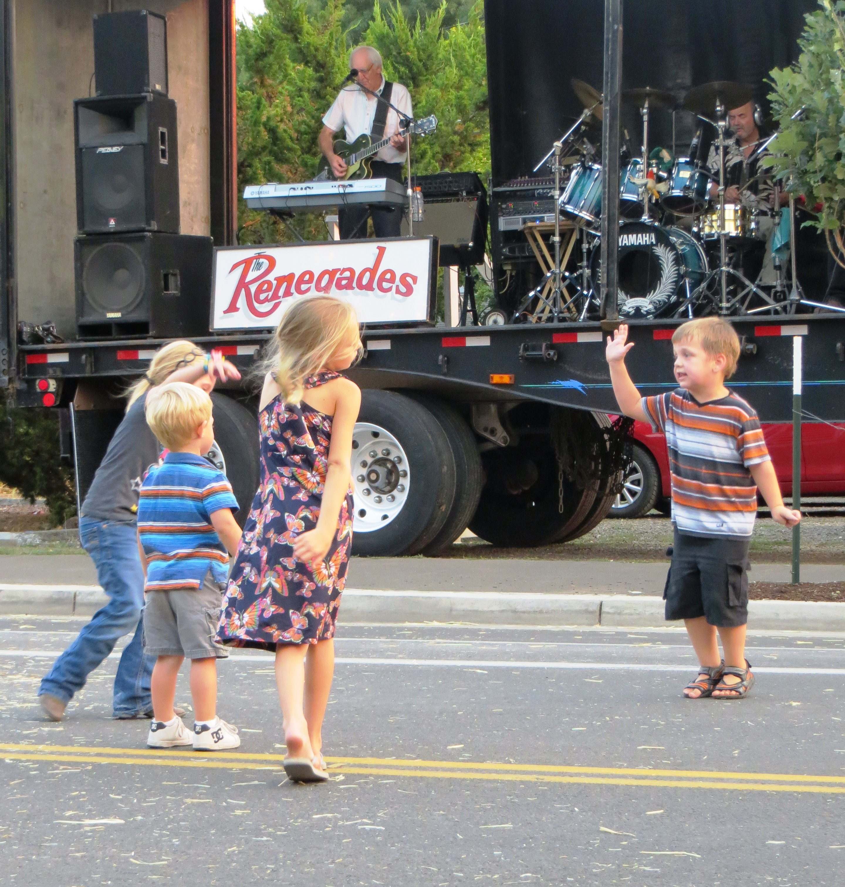 All ages enjoy the band.